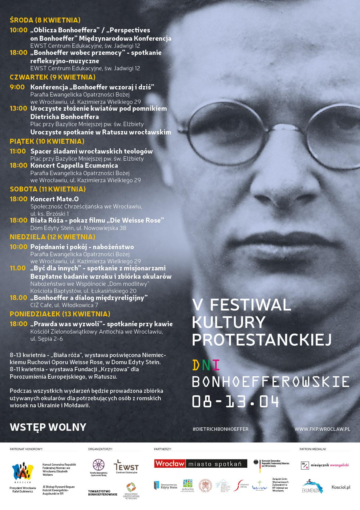 V Festiwal Kultury Protestanckiej. Dni Bonhoefferowskie